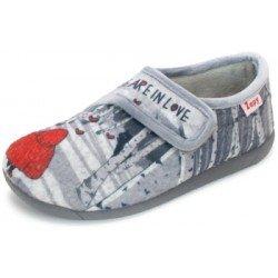 Zapatillas de estar en casa con velcro para niña de Zapy