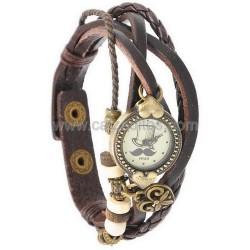 Reloj de pulsera retro en marrón de aprox. 20 cms.