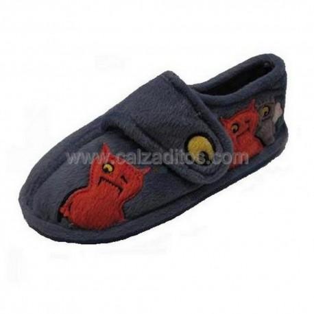 Zapatillas de estar en casa azules con motivos de monstruos de Gioseppo Kids