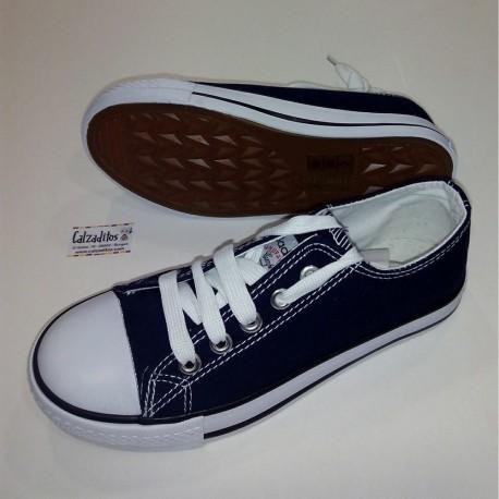 Zapatillas de lona azul marino tipo basket bajas con puntera, de Badboy