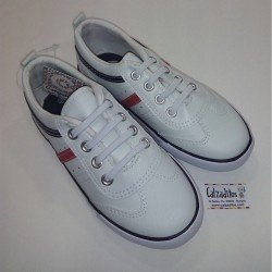Zapatillas de napa blanca con elástico, de Conguitos