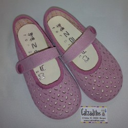 Zapatitos de piel serraje rosa con velcro, de Zapy for girls