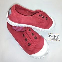 Zapatillas de lona en color coral con efecto deslavado, de Lonettes Zapy