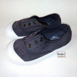 Zapatillas de lona en color gris con efecto deslavado, de Lonettes Zapy