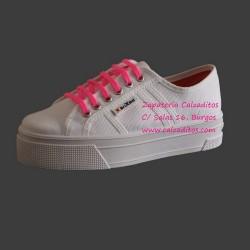 Zapatillas de lona blanca University con suela doble, de BrixBol