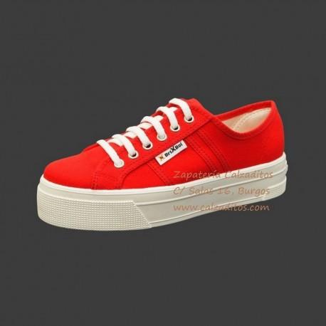 Zapatillas de lona roja University con suela doble, de BrixBol