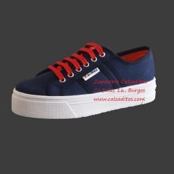 Zapatillas de lona azul marino University con suela doble, de BrixBol