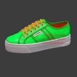 Zapatillas napa flúor sintética verde Bright Start con suela doble, de BrixBol