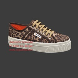 Zapatillas de lona con estampado de leopardo con suela doble, de BrixBol