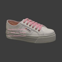 Zapatillas de napa sintética blanca con suela doble, de BrixBol