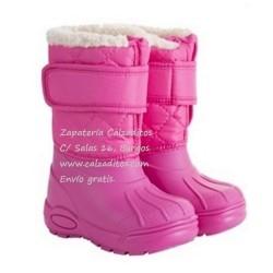 Botas de agua o ski en rosa fucsia para niña, de Igor