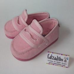 Mocasines antifaz de paño rosa, de Pelines