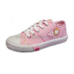 Zapatillas de lona rosa con cordones de Hello Kitty