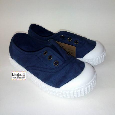 Zapatillas de lona con efecto deslavado en color azul glace, de Lonettes Zapy