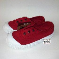 Zapatillas de lona con efecto deslavado en color rojo, de Lonettes Zapy